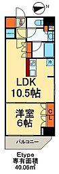 東京メトロ日比谷線 入谷駅 徒歩3分の賃貸マンション 5階1LDKの間取り