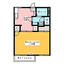 プレメゾーンいとう B[1階]の間取り