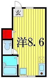 東京都葛飾区柴又6の賃貸アパートの間取り