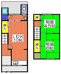 [テラスハウス] 大阪府堺市堺区向陵中町5丁 の賃貸【/】の間取り