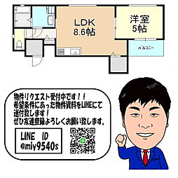 京阪本線 土居駅 徒歩15分 3階1LDKの間取り