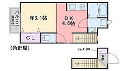 セピアコート2 B棟[201号室]の間取り