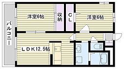 ボヌール鶴見(諸口)[303号室]の間取り