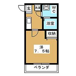 ASフラッティ竹田[2階]の間取り