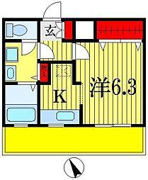 千葉県船橋市印内町の賃貸マンションの間取り