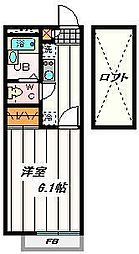 埼玉県さいたま市緑区原山1丁目の賃貸アパートの間取り