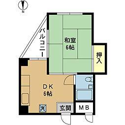 つたやマンション[0401号室]の間取り