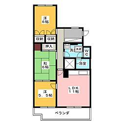 LM八事富士見ヶ丘202号[2階]の間取り