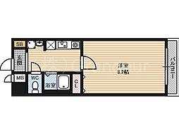アブレスト京橋[8階]の間取り