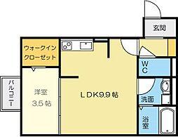 D-room熊本[2階]の間取り