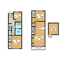 Casa de la Luz 1階3LDKの間取り