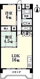 共立ビル[8階]の間取り