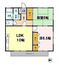東京都練馬区大泉町4丁目の賃貸アパートの間取り