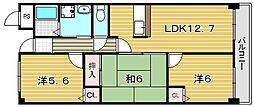 プ・ヴォワール21[505号室]の間取り