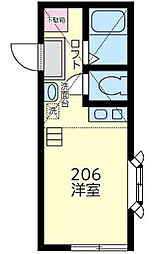 神奈川県横浜市金沢区六浦東2丁目の賃貸アパートの間取り