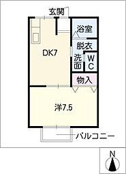 ロイヤルアーク[1階]の間取り