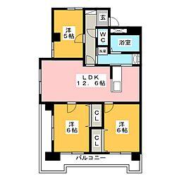 ウィル松屋[5階]の間取り