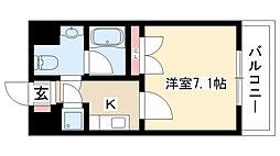 愛知県名古屋市名東区姫若町の賃貸マンションの間取り