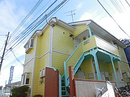 神奈川県川崎市中原区下新城2の賃貸アパートの外観
