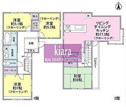[一戸建] 神奈川県横浜市戸塚区影取町 の賃貸【/】の間取り