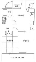 メゾンコウリョウノゲヤマ[3階]の間取り