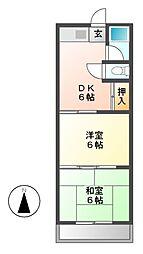 フローレス折戸[3階]の間取り