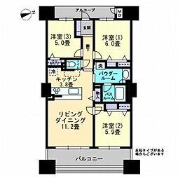 アルファタワー桜町[1604号室]の間取り