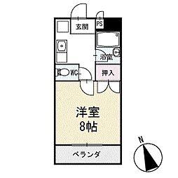 めぞんリバーサイド 3階[302号室]の間取り