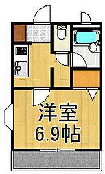 ラ・フォンテ-ヌ 大沢[2階]の間取り