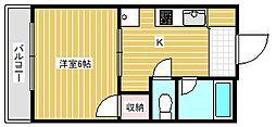エクセル千本ハイツ[2階]の間取り
