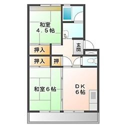 上浜団地(3・4号棟)[4-507号室]の間取り