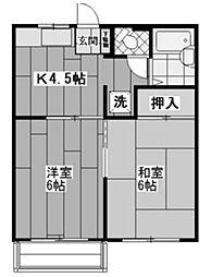 メゾン東豊田[2階]の間取り
