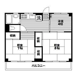 三殿台マンション[3階]の間取り