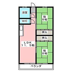白竜ビル[2階]の間取り