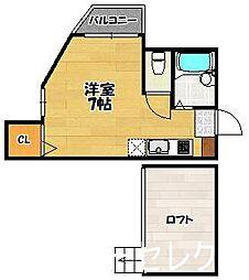 福岡県福岡市博多区住吉3の賃貸アパートの間取り