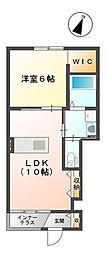 埼玉県春日部市粕壁の賃貸アパートの間取り