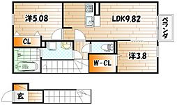 サンレトロ[2階]の間取り