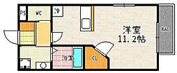 メゾンドシュー[102号室]の間取り
