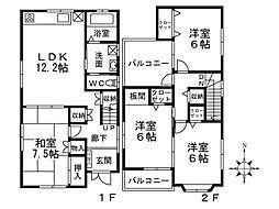 [一戸建] 大阪府藤井寺市小山7丁目 の賃貸【/】の間取り