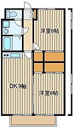 東京都練馬区東大泉6の賃貸アパートの間取り