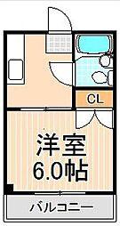 第3青山マンション[303号室]の間取り