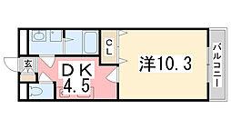 プランドールA[107号室]の間取り