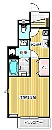 KI・ZU・NA 絆[1階]の間取り