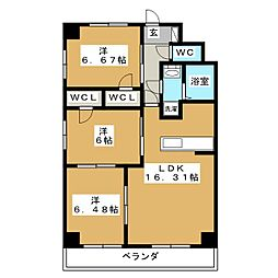S-FORT鶴舞reale[5階]の間取り