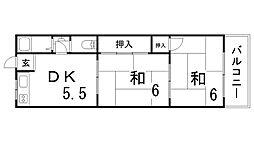 ハイツハタヤ[2階]の間取り