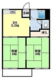 愛知県豊田市大清水町大清水の賃貸アパートの間取り