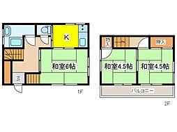 [一戸建] 東京都府中市西原町3丁目 の賃貸【東京都 / 府中市】の間取り