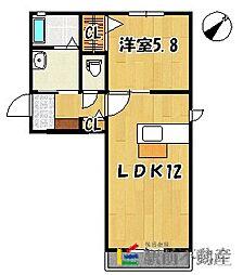 フェリークI[1階]の間取り