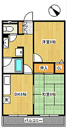 ネオフラッツA棟[2階]の間取り