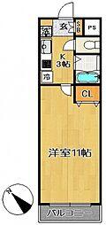 ユーコン南柏[506号室号室]の間取り